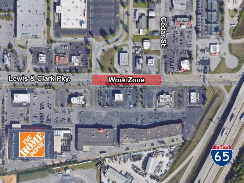 Lane Closures Planned for July 15th on Lewis and Clark Parkway