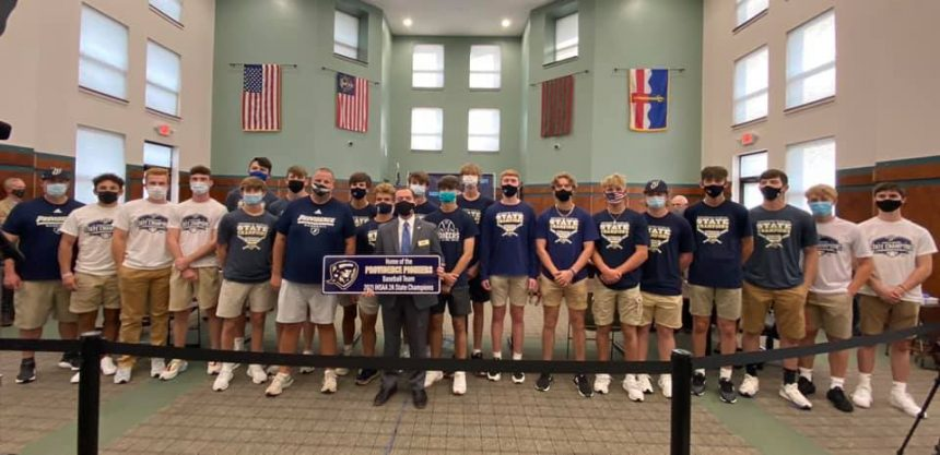 2020-2021 Providence Baseball Team Honored by Town Council